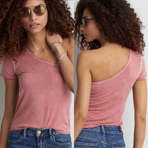 American Eagle Soft & Sexy T One Shoulder Top NWT